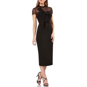 New JS Collections Illusion Neck Midi Dress Size 2